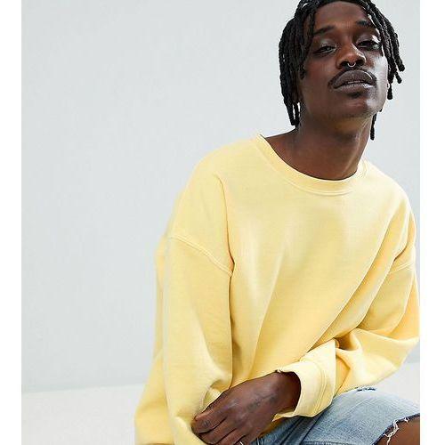 Reclaimed vintage inspired oversized overdye sweatshirt in yellow - yellow