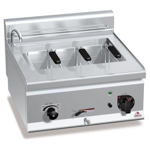 Urządzenie do gotowania makaronu i pierogów elektryczne, nastawne, jednokomorowe 25 l, 8,25 kw, 600x600x290 mm   , plus 600, pasta italy, e6cp6b marki Berto's