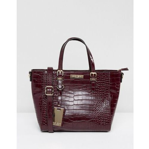 Carvela Danna Croc Tote Bag - Red, kolor czerwony