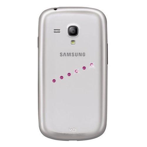 obudowa sash pink do galaxy s3 mini, marki White diamonds