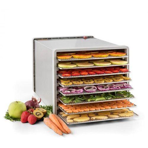 Klarstein fruit jerky pro 8 automat do suszenia dehydrator 630w 8 poziomów stal (4260435917762)