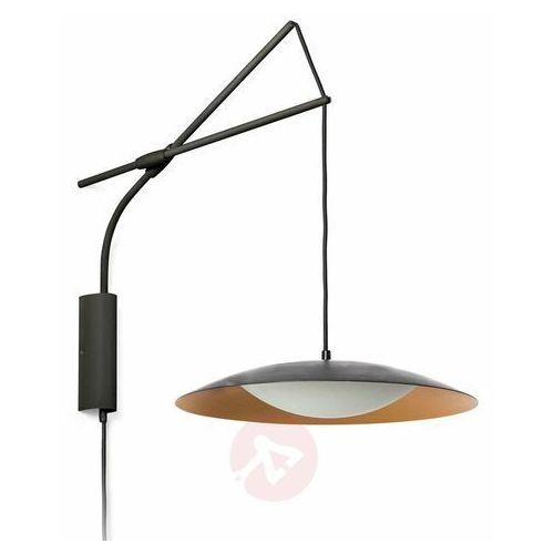 Kinkiet LED Slim z wtyczką, czarno-złoty (8421776146181)