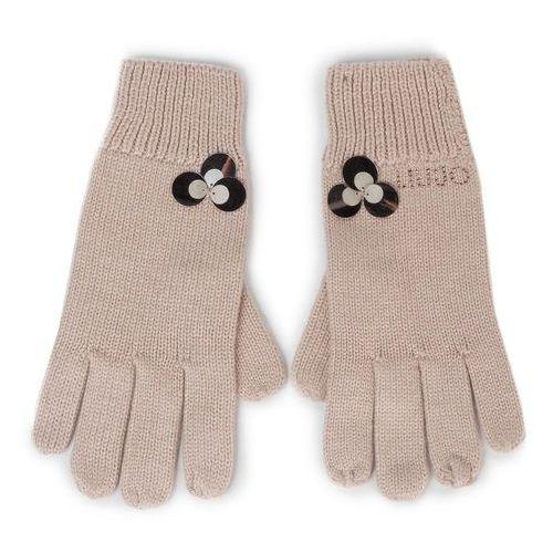 Rękawiczki damskie - guanti maglia paille 269015 m0300 red sand 61509 marki Liu jo