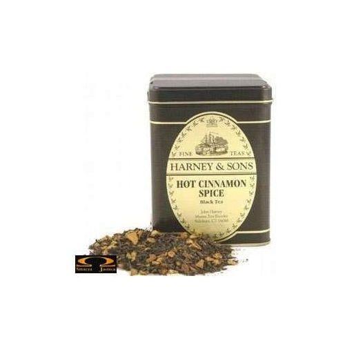 Herbata hot cinnamon spice, puszka liściasta 227g marki Harney & sons