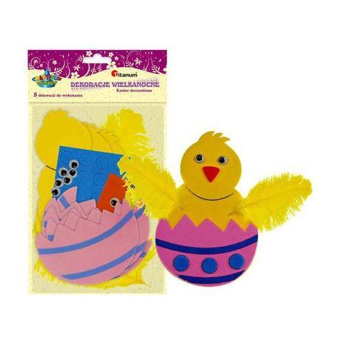 Zestaw kreatywny kurczak jajko 5szt pianka 7x11cm - kurczak w skorupce marki Titanum