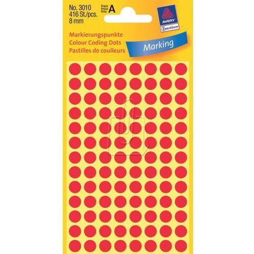 Etykiety czerwone kółka do zaznaczania 8mm Avery Zweckform 3010