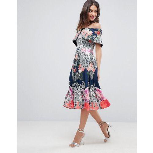 10cfe7b4c7 Suknie i sukienki · bardot ergonomic floral midi prom dress - multi