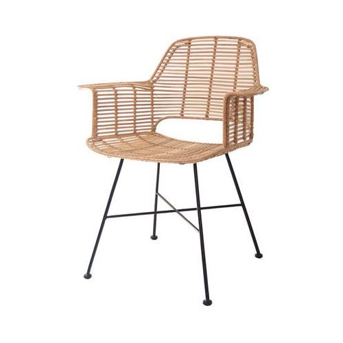 Hk living :: krzesło rattanowe tub naturalne