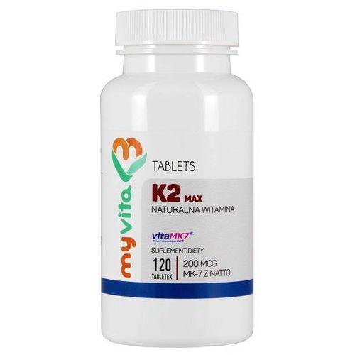 Tabletki Witamina K2 Max MK - 7 Z Natto - 120 tabletek MyVita