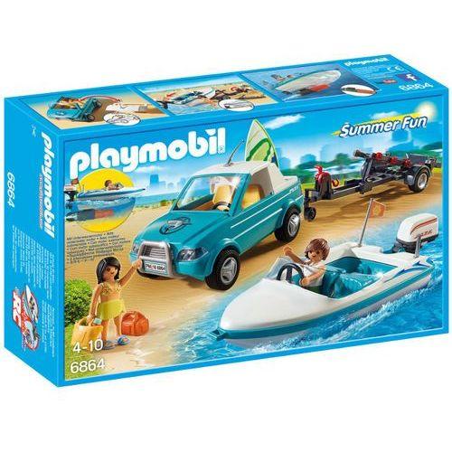 Playmobil SUMMER FUN Pickup z motorówką 6864
