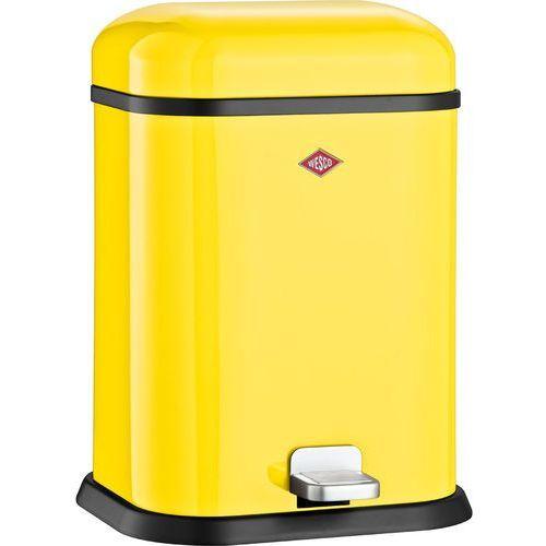 Kosz na śmieci żółty pedałowy Single Boy 13 litrów Wesco (132212-19) (4004519034637)