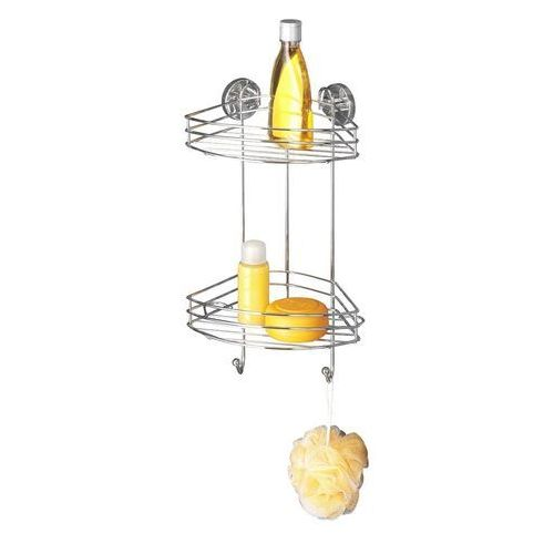 Wenko Narożna półka łazienkowa, vacuum-loc, 2 poziomy - stal chromowana, (4008838208854)