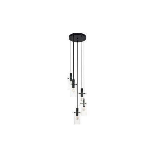 Lampa wisząca Eglo Montefino 97368 oprawa sufitowa 5x60W E27 czarna (9002759973681)