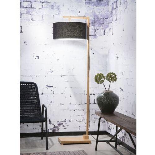 Good&mojo lampa podłogowa himalaya, abażur czarny, rozmiar 47x23cm himalaya/f/4723/b