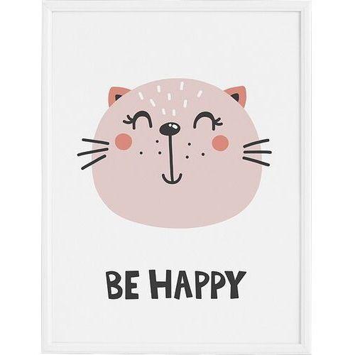 Plakat be happy 30 x 40 cm marki Follygraph
