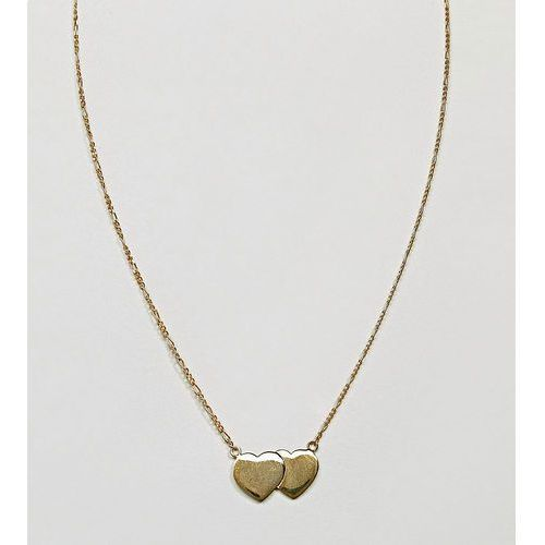 ASOS Gold Plated Sterling Silver Floating Double Hearts Necklace - Gold