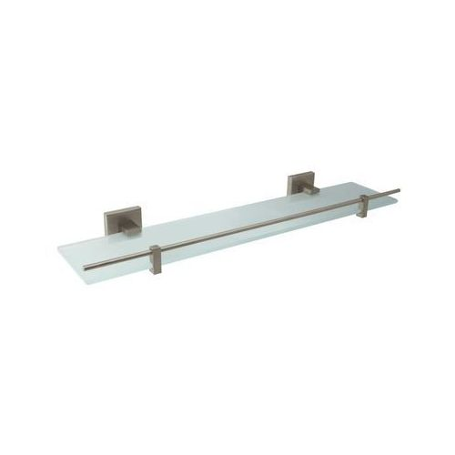 Bisk Półka łazienkowa 50 x 13 cm nord nikiel mat + szkło matowe