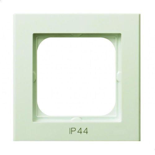 Ospel sonata rh-1r/27 ramka pojedyncza do łączników ip-44 ecru (5907577445515)