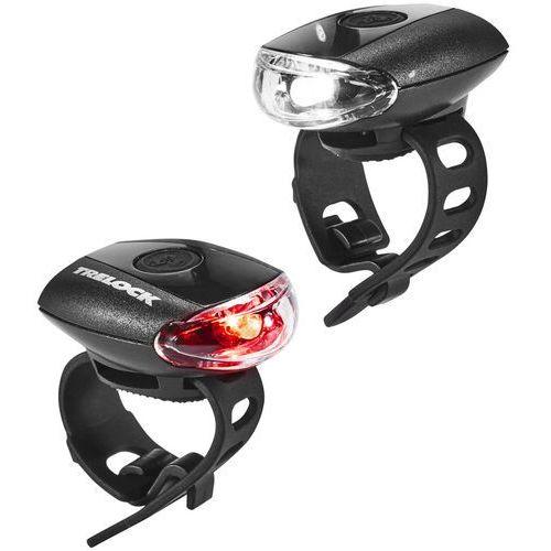 Trelock ls 110 go zestaw oświetlenia czarny 2018 lampki na baterie zestawy