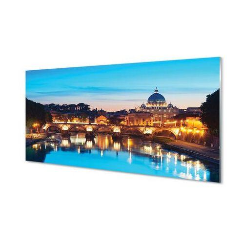 Tulup.pl Obrazy akrylowe rzym zachód słońca rzeka mosty