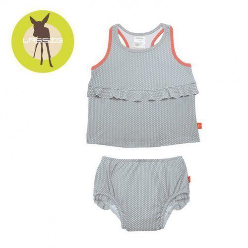 kostium do pływania dwuczęściowy z wkładką chłonną polka dots grey uv 50+ marki Lassig
