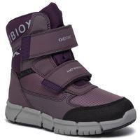 Śniegowce GEOX - J Flexyyper G.B Abx A J94APA 0FU54 C8UG8 S Lt Prune/Purple