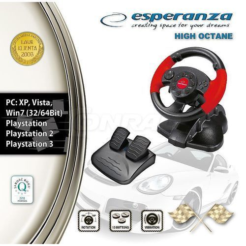 Esperanza Kierownica  high octane do pc ps1 ps2 ps3