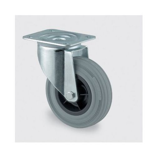 Tente Koła przemysłowe z maksymalnym obciążeniem 70-205 kg, szara guma (4031582303896)