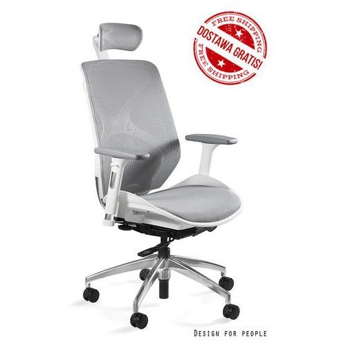 Fotel hero biały-siatka nowość, marki Unique