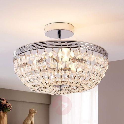 Lampenwelt.com Mieniąca się kryształowa lampa sufitowa mondrian (4251096516517)
