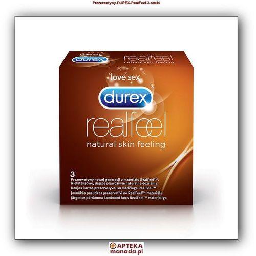 Durex Prezerwatywy Real Feel 3 szt (antykoncepcja i erotyka)