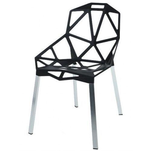 Krzesło SPLIT PREMIUM czarne - aluminium, kolor czarny