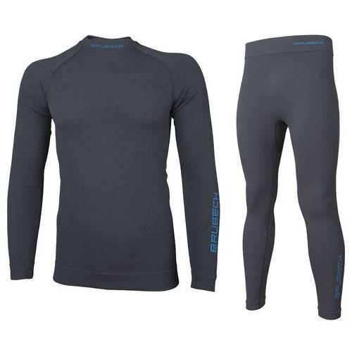 Męski komplet bielizny termoaktywnej thermo ls13040 (bluza) + le11840 (spodnie) szary m marki Brubeck