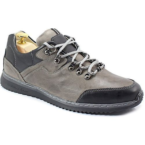 KENT 515 SZARY- Polskie buty trekkingowe,skóra - Szary