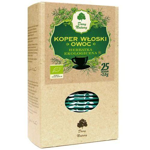 Dary natury - herbatki bio Herbatka z owocu kopru włoskiego bio (25 x 2 g) - dary natury (5902741003102)