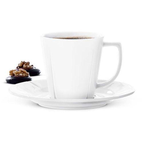 Filiżanka do kawy z podstawkiem Grand Cru, biała - Rosendahl