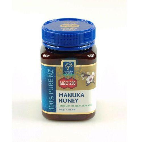 Miód manuka mgo 250+ 500g wyprodukowany przez Manuka health new zealand limited