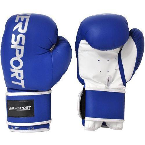 Rękawice bokserskie AXER SPORT A1332 Niebiesko-Biały (14 oz) + DARMOWY TRANSPORT!