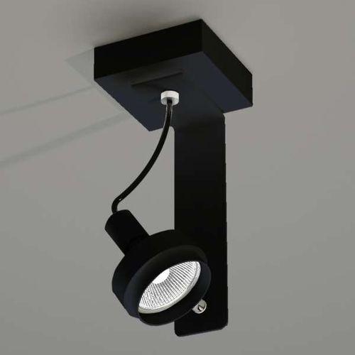 Plafon lampa sufitowa gero 2204/gu10/cz metalowa oprawa natynkowa czarny marki Shilo