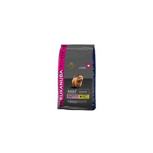 7,5 / 12 kg Eukanuba Breed + miska gratis! - Adult Small Breeds, kurczak, 7,5 kg z kategorii Karmy dla psów