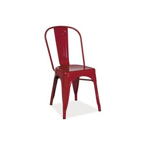 Signal meble Krzesło loft czerwony