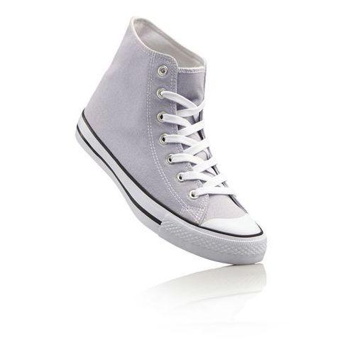Wysokie sneakersy bonprix jasnoszary, kolor szary