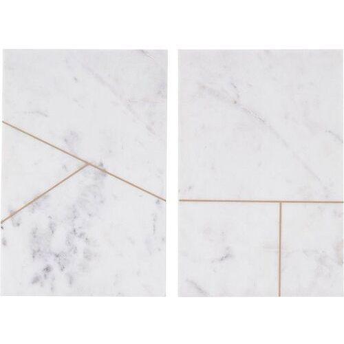 Talerz marmurowy Marble 2 szt. białe (5707644429208)