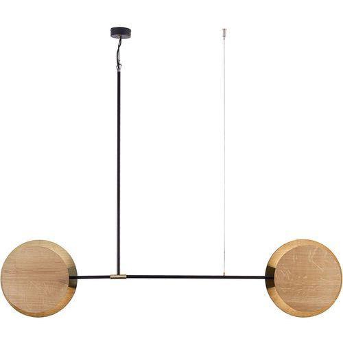 Lampa wisząca minimal 9375 zwis 2x40w e27 drewno / mosiądz marki Nowodvorski