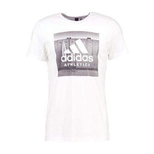 performance tshirt z nadrukiem white marki Adidas