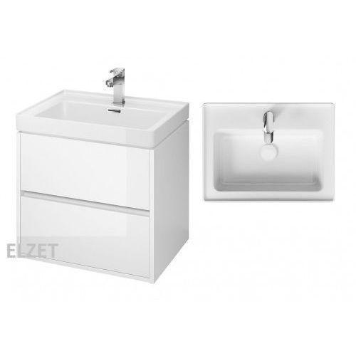 szafka crea biały połysk + umywalka crea 60 s924-003+k114-006 marki Cersanit