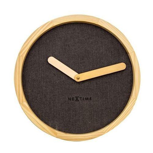 NeXtime - Zegar ścienny Calm - brązowy