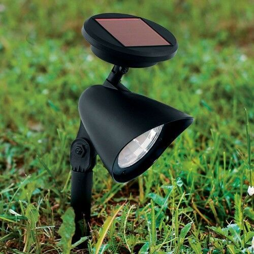 Solarny reflektor LED Ludo, czarny, grot ziemny, 22090647347