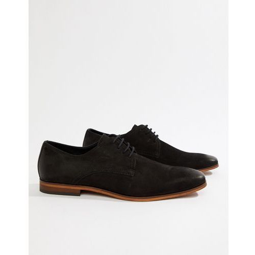 lace up shoes in black nubuck - black, Pier one
