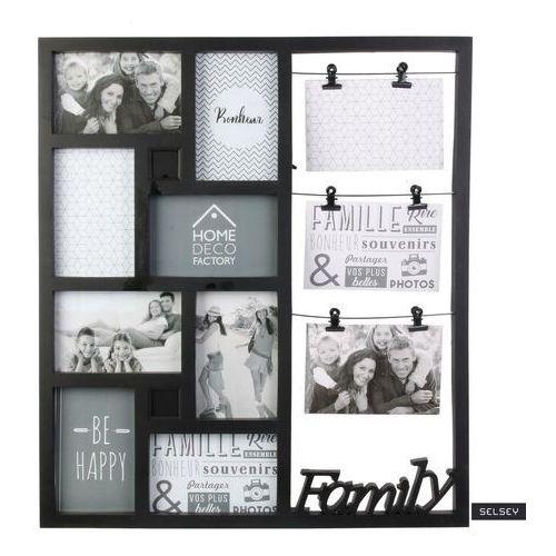 multiramka na zdjęcia brizza na jedenaście zdjęć czarna marki Selsey